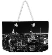 Top Of The Rock In Black And White Weekender Tote Bag