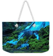 Top Part Of Clearwater Falls Weekender Tote Bag