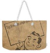 Top Ten Reasons People Procrastinate Pun Humor Motivational Poster Weekender Tote Bag