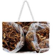 Top View Of Three Clear Bags Of Dried Weekender Tote Bag