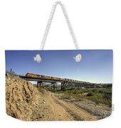 Topock Bridge Freight Weekender Tote Bag