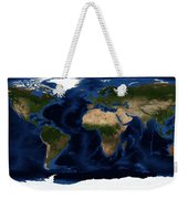 Topography Map Of The World Weekender Tote Bag