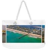 Topsail Island Aerial Panels Weekender Tote Bag