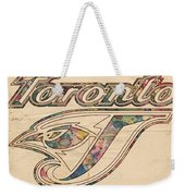 Toronto Blue Jays Logo Art Weekender Tote Bag