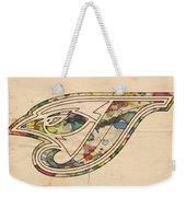Toronto Blue Jays Poster Vintage Weekender Tote Bag