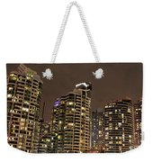 Toronto Condos On A Cold Winter Night Weekender Tote Bag