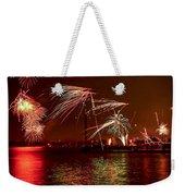 Toronto Fireworks Weekender Tote Bag by Elena Elisseeva