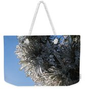 Toronto Ice Storm 2013 - Pine Needle Flowers In The Sky Weekender Tote Bag
