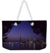 Toronto Skyline At Night Weekender Tote Bag