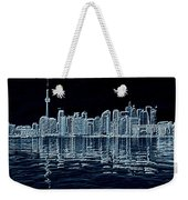 Toronto Skyline In Blue Weekender Tote Bag