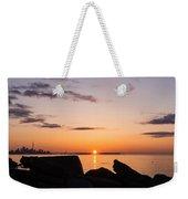 Toronto Skyline Panorama At Sunrise Weekender Tote Bag