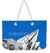 Toronto Skyline Royal Ontario Museum - Blue Weekender Tote Bag