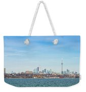 Toronto Skylines At The Waterfront Weekender Tote Bag