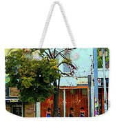 Toronto Stroll Past Fashion Stores Downtown Early Autumn Urban City Scenes Canadian Art C Spandau Weekender Tote Bag