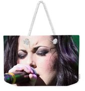 Touching Vocals Weekender Tote Bag