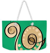 Thoughts And Colors Series Snail Weekender Tote Bag