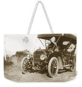 Touring Car On The Road California 1906 Weekender Tote Bag
