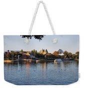 Touring On The World Showcase Lagoon Walt Disney World Weekender Tote Bag