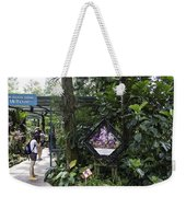 Tourist Doing Photography And Viewing Plants In A Garden Weekender Tote Bag