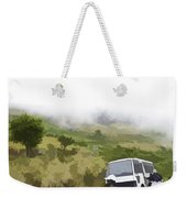 Tourists And Bus Inside The Eravikulam National Park Weekender Tote Bag