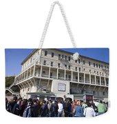 Tourists At Alcatraz Island Weekender Tote Bag