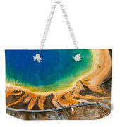 Tourists At Grand Prismatic Weekender Tote Bag