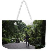 Tourists Inside A Downward Sloping Section In The Orchid Garden Weekender Tote Bag