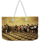 Tourists On Bench - Taormina - Sicily Weekender Tote Bag