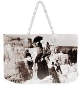 Tourists On Mammoth Terraces Weekender Tote Bag