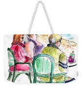 Tourists On The Costa Blanca In Spain Weekender Tote Bag