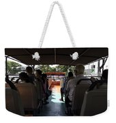 Tourists On The Sight-seeing Bus Run By The Hippo Company In Singapore Weekender Tote Bag