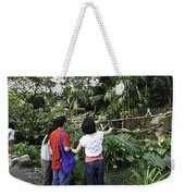 Tourists Viewing The Colorful Birds Weekender Tote Bag