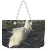 Tousled Egret Weekender Tote Bag