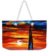 Towards The Sun - Palette Knife Oil Painting On Canvas By Leonid Afremov Weekender Tote Bag