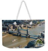 Tower Bridge And London City Hall Aerial View Weekender Tote Bag