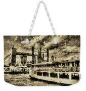 Tower Bridge And The Elizabethan Vintage Weekender Tote Bag