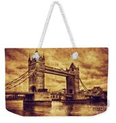 Tower Bridge In London Uk Vintage Style Weekender Tote Bag