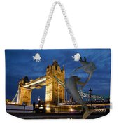 Tower Bridge The Dolphin And The Girl Weekender Tote Bag