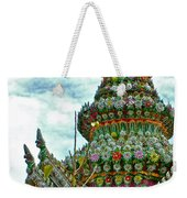 Tower Closeup Of Buddhist Temple At Grand Palace Of Thailand  Weekender Tote Bag