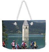 Tower In The Lake Weekender Tote Bag