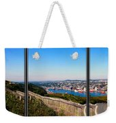 Tower Over The City Triptych Weekender Tote Bag