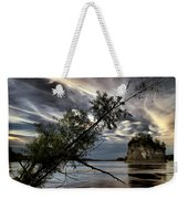 Tower Rock In The Mississippi River Weekender Tote Bag