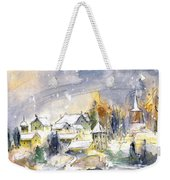 Town By The Rhine Falls In Switzerland Weekender Tote Bag