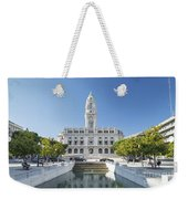 Town Hall In Porto Portugal Weekender Tote Bag