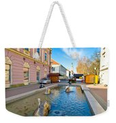 Town Of Bjelovar Square Fountain Weekender Tote Bag