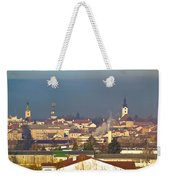 Town Of Bjelovar Winter Skyline Weekender Tote Bag