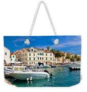 Town Of Hvar Waterfront View Weekender Tote Bag