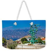 Town Of Razanac With Velebit Background Weekender Tote Bag