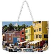 Town Of Veli Losinj Colorful Waterfront Weekender Tote Bag