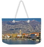 Town Of Vinjerac In Front Of Paklenica National Park Weekender Tote Bag